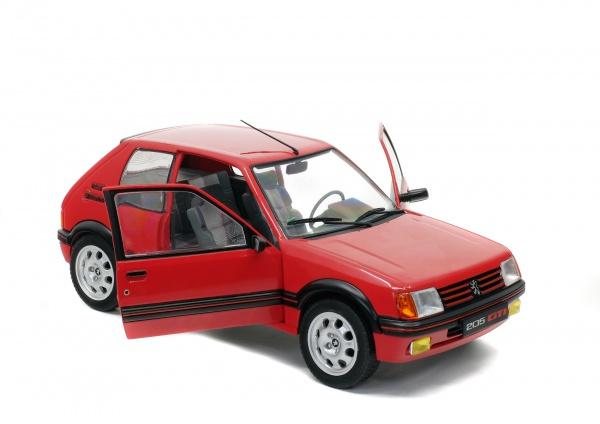PEUGEOT 205 GTI 1.9L MK 1 - ROUGE VALLELUNGA -1988