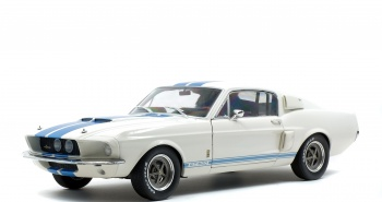 SHELBY MUSTANG GT500 - WIMBLEDON WHITE / BLUE STRIPES -1967