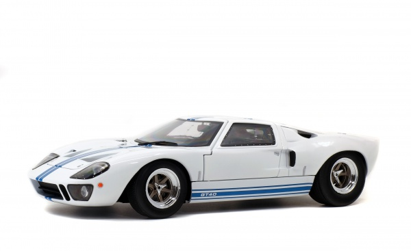 FORD GT40 MK1 - WHITE / BLUE STRIPES - 1968
