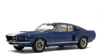SHELBY MUSTANG GT500 - NIGHTMIST BLUE/ LIGHT GREY STRIPES -1967