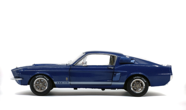 SHELBY MUSTANG GT500 - NIGHTMIST BLUE/ LIGHT GREY STRIPES -1967