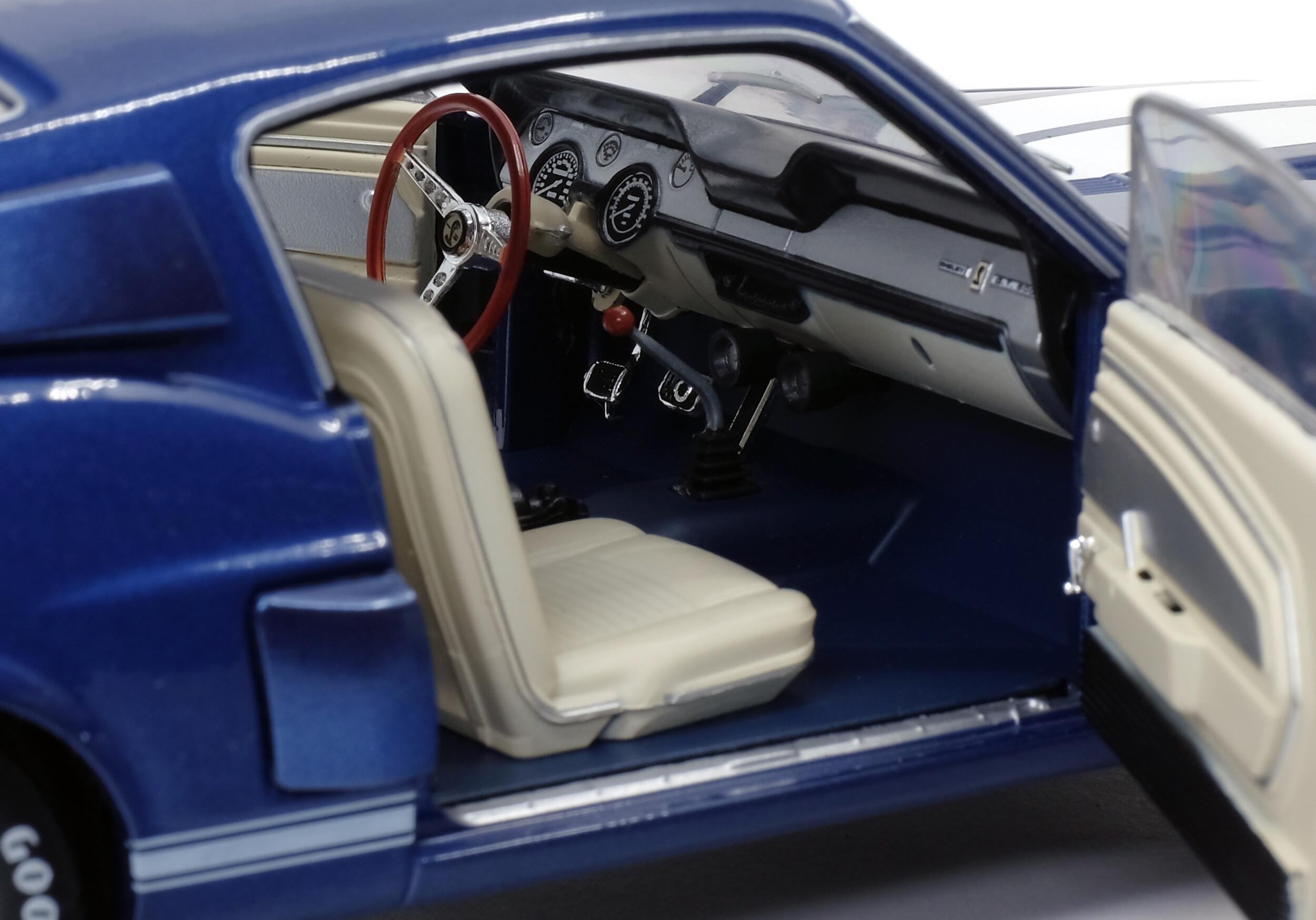 SHELBY GT500 - NIGHTMIST BLUE/ LIGHT GREY STRIPES -1967 ...